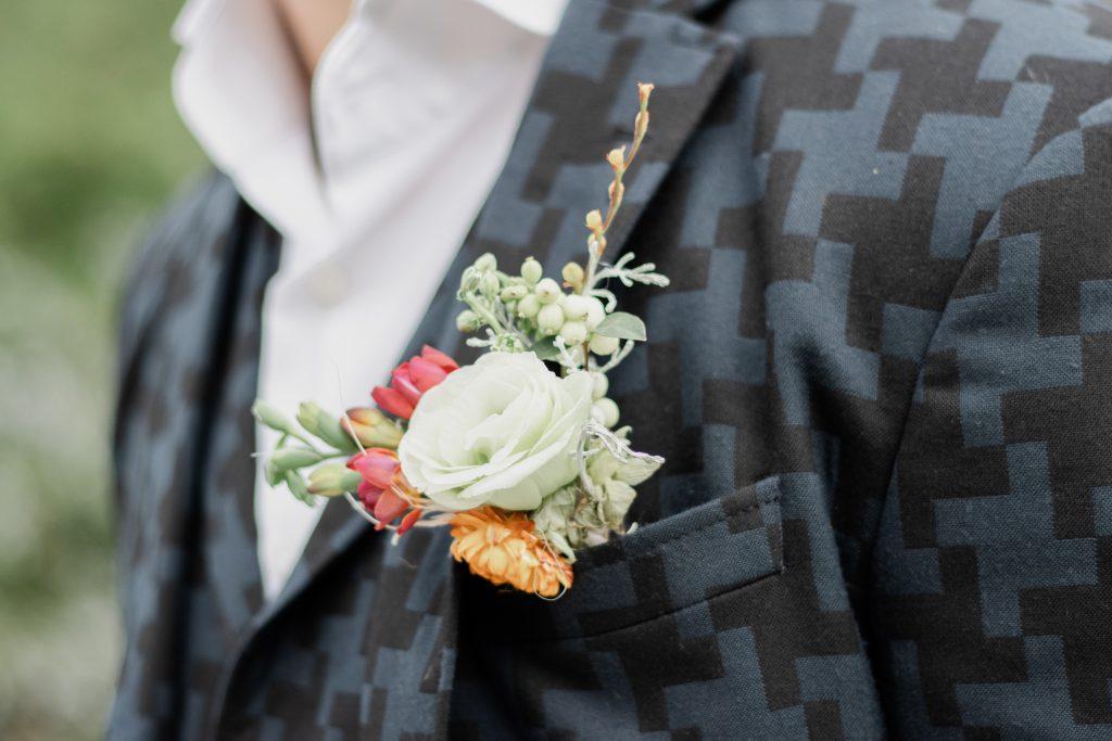 Broche van de bruidegom